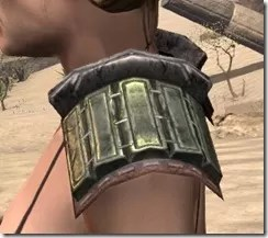 Argonian Steel Pauldron - Female Side