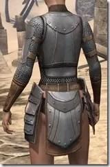 Breton Steel Cuirass - Female Rear