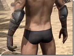 Breton Steel Gauntlets - Male Rear