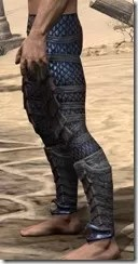 Dragon Priest Rubedite Greaves - Male Side