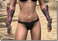 Fang Lair Rubedite Gauntlets - Female Front