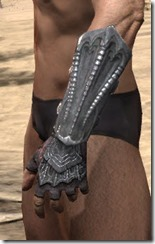 Fang Lair Rubedo Leather Bracers - Male Side