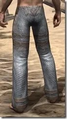 Orc Steel Greaves - Male Rear