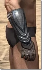 Redguard Steel Gauntlets - Male Right