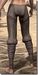 Redguard Steel Greaves - Female Rear