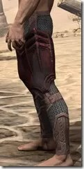 Worm Cult Rubedite Greaves - Male Side