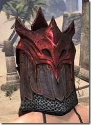 Worm Cult Rubedite Helm - Female Rear