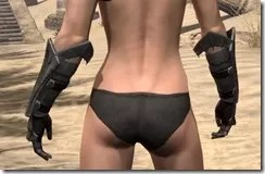 Worm Cult Rubedo Leather Bracers - Female Rear