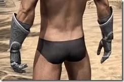 Apostle Iron Gauntlets - Male Rear