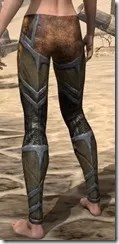 Dark Elf Dwarven Greaves - Female Rear