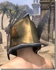 Dark Elf Dwarven Helm - Male Rear