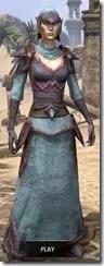 Dark Elf Homespun - Dyed Robe Front