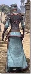 Dark Elf Homespun - Dyed Robe Rear