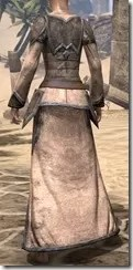 Dark Elf Homespun Robe - Female Rear
