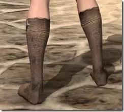 Dark Elf Homespun Shoes - Female Rear