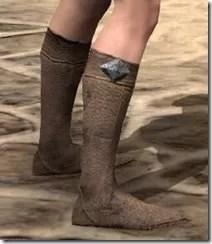 Dark Elf Homespun Shoes - Female Right