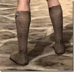 Dark Elf Homespun Shoes - Male Right