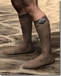 Dark Elf Homespun Shoes - Male Side