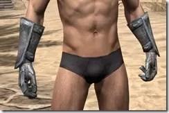 Dark Elf Iron Gauntlets - Male Front