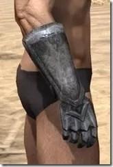 Dark Elf Iron Gauntlets - Male Right