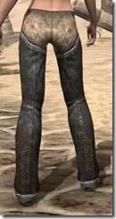 Dark Elf Iron Greaves - Female Rear