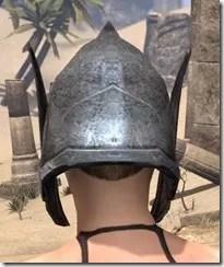 Dark Elf Iron Helm - Female Rear