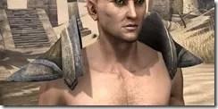Dark Elf Orichalc Pauldron - Male Front