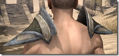 Dark Elf Orichalc Pauldron - Male Rear