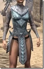 Glass Iron Cuirass - Female Front