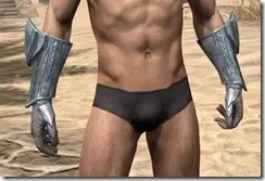 Glass Iron Gauntlets - Male Front