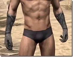 High Elf Steel Gauntlets - Male Front