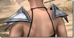 High Elf Steel Pauldrons - Female Rear