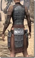 Imperial Steel Cuirass - Female Rear