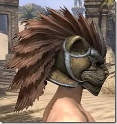 Khajiit Dwarven Helm - Male Right