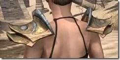 Khajiit Dwarven Pauldron - Female Rear