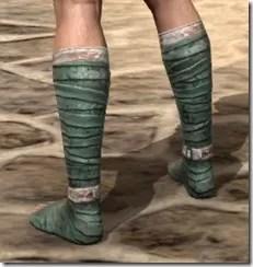 Khajiit Homespun Shoes - Male Rear