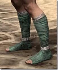 Khajiit Homespun Shoes - Male Side