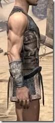 Khajiit Iron Cuirass - Male Right