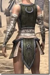 Khajiit Orichalc Cuirass - Female Rear