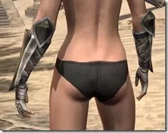 Khajiit Orichalc Gauntlets - Female Rear