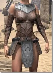 Khajiit Steel Cuirass - Female Front