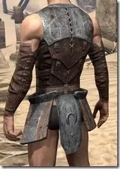 Khajiit Steel Cuirass - Male Rear