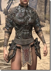 Morag Tong Iron Cuirass - Female Front