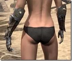 Nord Dwarven Gauntlets - Female Rear