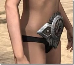 Nord Dwarven Girdle - Female Right