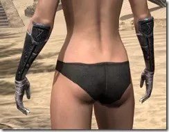Nord Iron Gauntlets - Female Rear