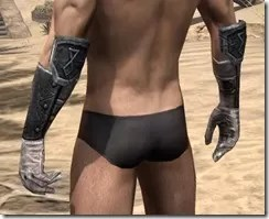 Nord Iron Gauntlets - Male Rear