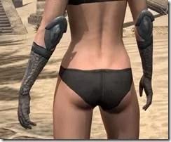 Silken Ring Iron Gauntlets - Female Rear