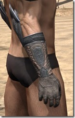 Silken Ring Iron Gauntlets - Male Right