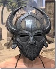 Silken Ring Iron Helm - Female Front